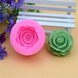Cupcake Forms NZ - 3D Flower Bloom Rose Form Fondant Silicone Soap Cake Mold Cupcake Candy Chocolate Cake Decoration Tool Baking Lace Moulds