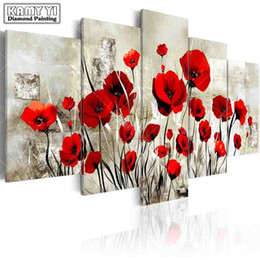 Poppies painted flowers online poppies painted flowers for sale wholesale full square drill diamond embroidery poppy flowers 5d diy diamond painting cross stitch multi picture home decoration mightylinksfo Gallery