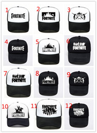 0649007b52c 24 colors Fortnite man baseball cap male snapback summer Breathable hats  man hip hop hat for women funny Quick drying caps in stock