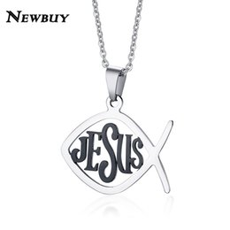Discount christian fish christian fish 2018 on sale at dhgate christian fish 2018 newbuy double side wear christian fish necklace religious prayer jewelry stainless steel aloadofball Image collections