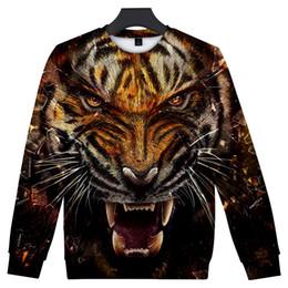 Cool Sweatshirt Jackets Australia - 2018 New Cool Tiger Sweatshirt Men's Brand Pullover Animals Sportwear Crewneck Outwear Plus Size 5XL Jacket Men Dropshipping