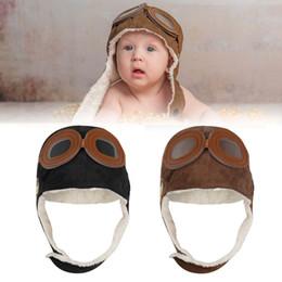 Kids Pilot Beanie Cap Winter Woolen Aviator Flight Hat Boys Girls Cool  Earflap Warmer for Children 6a8a3880e539