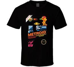 $enCountryForm.capitalKeyWord NZ - Metroid Nes Box Art Retro Video Game T Shirt Cartoon t shirt men Unisex New Fashion tshirt Loose Size top ajax