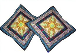 $enCountryForm.capitalKeyWord NZ - Unique 100% Handsewn Tribal Embroidery Sofa Couch Cushion Pillow Cover #210 Pair