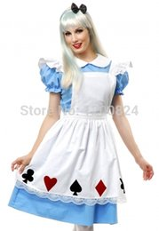 Discount maid cosplay lolita dress - free shipping Hot Sale Alice In Wonderland Dress Lolita Maid Cosplay Fantasia Carnival Halloween Costumes For Women Plus