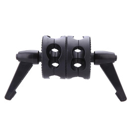 $enCountryForm.capitalKeyWord UK - wholesale Dual Swiveling Grip Head Angle Clamp for Photo Studio Boom Arm Reflector Holder Stand