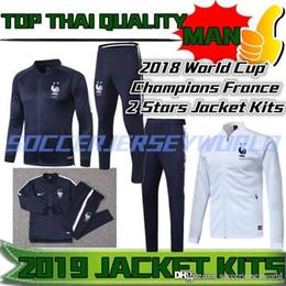 2018 World Cup France 2 STARS Jacket Kits Griezmann Training Suits Kanté  Survetement Chanda Pogba Tracksuit Kits Mbappé Veste With PANTALONS e9b0a78d9f69