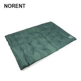 mattresses portable beds Canada - Norent Automatic Inflatable Double Bed Folding Portable Mattress Outdoor Picnic Camping cushion Dampproof Waterproof Tent Mat