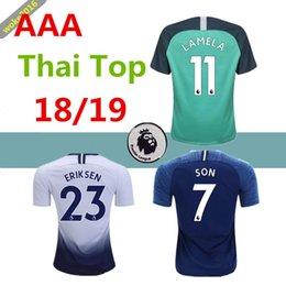 13b4d756e11 KANE DELE 2018 2019 home away 3rd Soccer Jersey Premier League ERIKSEN  LAMELA JANSSEN TRIPPIER 18 19 top thai quality third football shirt