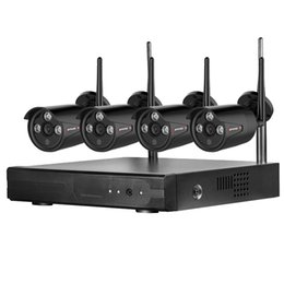 outdoor wireless home security systems 2019 - Wireless CCTV camera System 720P 960P 4ch 2MP IP Camera waterproof outdoor P2P Home Security System video Surveillance K