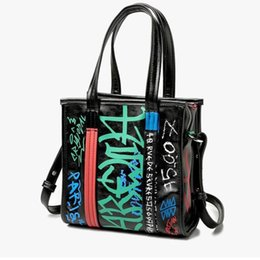 $enCountryForm.capitalKeyWord Australia - Korean Graiffi Printing Fashion Women Men Handbags 2018 Paris New Punk Large Shoulder Bag tide Japanese Brand Tote Travel Bag