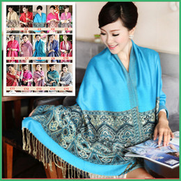 bohemian cotton shawl scarf NZ - Hot !! New High Quality Chinese Lady Scarf Cotton Bohemian Ladies Long Warm Scarf Large Shawl 24 Colors Optional