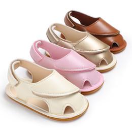 $enCountryForm.capitalKeyWord Australia - Fashion Toddler Baby Girl Boy Soft Sole Crib Shoes Sandles PU Leather Shoes First Walker Hollow Prewalker