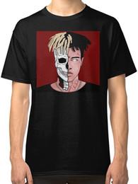 $enCountryForm.capitalKeyWord NZ - XXXTENTACION Half Skull T-Shirt 2018 Cheap Short Sleeve 100% Cotton Family Summer Fashion street style men t-shirt