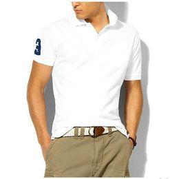 Hot luxury 2018 camisa pólo dos homens big horse camisa sólida manga curta  verão casual camisas polo mens frete grátis bdc2eb94c2e93
