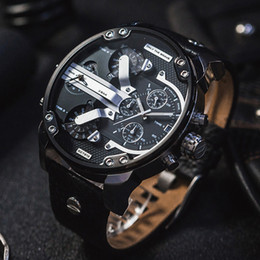 Wholesale Top Luxury Fashion Sports Men Watches Big Dial Display Top Brand Luxury watch Quartz Watch Steel Band Fashion Wristwatches For Men DZ73