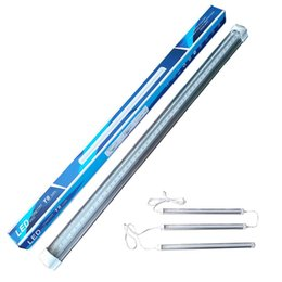 full spectrum light tubes NZ - LED Grow Light Full Spectrum for Hydroponic Indoor Plants Growing Veg,Flowering More Light with Less Power Heat T8 Double row tube growth