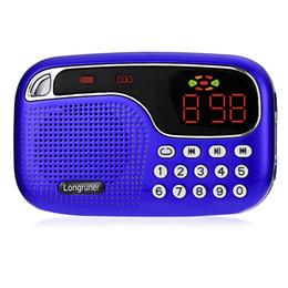 $enCountryForm.capitalKeyWord NZ - LONGRUNER L-21 JM2021 MP3 Player Large Screen Display Support TF  Micro SD Card 3.5mm Earphone Jack Mini 2 in 1 FM Radio Speaker