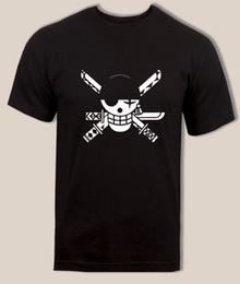 High Quality Straw Hats UK - High Quality Custom Zoro Logo Tshirt New World Zoro Swordsman Straw Hat Pirate Anime T Men Print Cotton O Neck Shirts