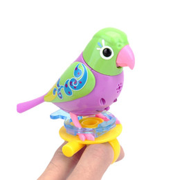 singing birds toys UK - Funny Music Bird Electric Toys 20 Songs Singing Sound Birds Pets Sing Solo Intelligent Music KidsToys