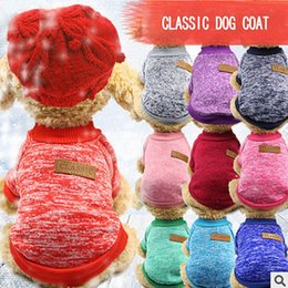 Wholesale Classics Pet Dog Coats Soft Christmas Halloween Warm Defensive Cold Cotton Puppy Cat Knitting Dogs Sweater shirt Apparel Clothes XS XL