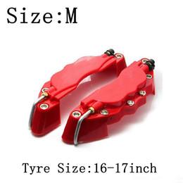 Toptan satış M boyutu 16-17 inç lastik 3D Kaliper Fren pense kapakları için Fit kapakları ABS Kaliperleri Ön Arka Disk Kapak Kiti