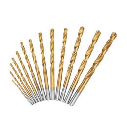$enCountryForm.capitalKeyWord Australia - 13pcs 1.5-6.5mm HSS Twist Drill Bit Set High Speed Steel Straight Shank Twist Drill Bit - Silver