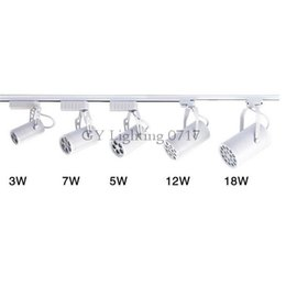 single phases UK - 110V 220V 240V 3W 5W 7W 12W 18W Classic track light LED tracking light white shell single phase rail lighting warm white pure white