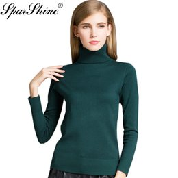 Wool Knitted Cashmere Turtleneck Sweater Women Sweaters And Pullovers Female  2017 Winter Pull Femme Ladies Pullover Jumper Tops Y1891902 e92720a60
