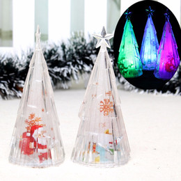 mini usb color changing led light slow flash table trees xmas plastic christmas decorations tree in the desktop