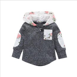 Wholesale kids clothes patches resale online - Kids Hoodies Baby Girls Floral Plaid Tops Boys stripe Hooded Shirt Long Sleeved patch Pullover Clothes Designer Autumn Clothing YL831