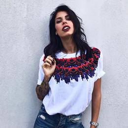 White Roses Blouse Australia - 2019 Fashion New Trend Women Shirt Tops Summer Blouse Leisure Loose Short-sleeved Rose Print Shirt Blouses White Black S-XL