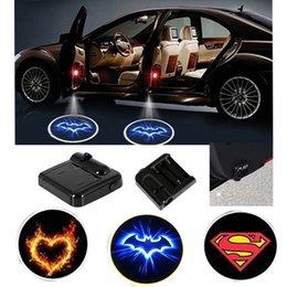 $enCountryForm.capitalKeyWord NZ - DHL 100PCS Wireless Car Logo Door Decor Light Superman Ghost Heart Shadow LED Welcome Laser Projector Lamp