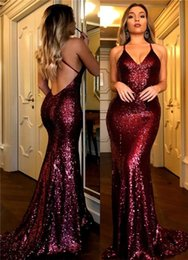 China Sparkly Sequined Long Prom Celebrity Dresses 2018 New Cheap Sexy Halter Straps Backless Formal Evening Gowns Party Wear cheap cheap long prom dresses halter suppliers