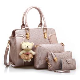 Cheap Fashion Bag Sets Canada - Women Handbag Set Bag bolsa feminina Female  PU Leather sac d8c3a712898ff
