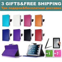 Discount 7 inch tablet case - 3 Gifts for Prestigio Grace 3101 4G PMT3101_4G_D 10.1 inch Tablet Universal Cover Case NO CAMERA HOLE Free Shipping