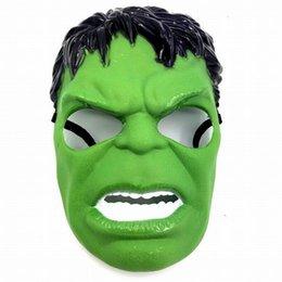 $enCountryForm.capitalKeyWord NZ - Helloween Cosplay Masquerade Masks Marvel The Avengers Green Hulk Masks Kids Party Mask Toys Justice League Birthday Favors Toys Xmas Gift