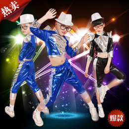 $enCountryForm.capitalKeyWord Canada - 2018New Arrival Children Jazz Dance Costume Boy Hip-hop Costume Girl Modern Dance Clothing Male Drummer Wear Performance clothes