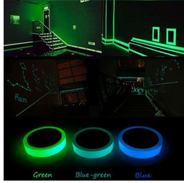 tape glow NZ - Glow In Dark Tape Wall Sticker Luminous Tape Stage Home Decoration Glow Tape Self-adhesive Choose Color