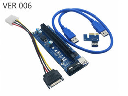 Usb serial rs online shopping - PCI E Ver C S C S S Ver006C Ver008C Ver009S PCIe Express Riser Card x to x SATA USB Cable For BTC Bitcoin Miner