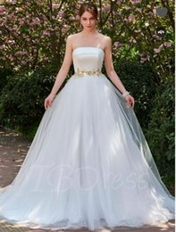 $enCountryForm.capitalKeyWord NZ - Beaded Waist Bowknot A-Line Strapless Wedding Dress