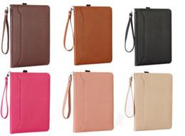 $enCountryForm.capitalKeyWord NZ - Flip Leather Case For iPad Mini 4 3 2 1 Protable Rope Hand Holding Card Money Pocket Bag Cover