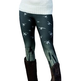 df2ee3f4d7 2018 New Women Spring Autumn Warm Leggings Fashion Birds Printed Boot  Trousers High Elastic Skinny