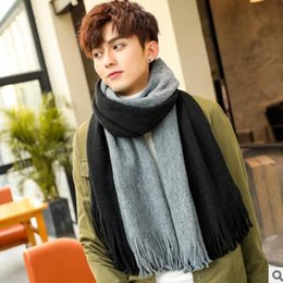 9ffca778173 Scarf for man winter new style joker Korean version of simple men s scarves  knitted wool scarf students long young