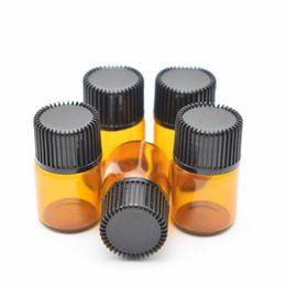 $enCountryForm.capitalKeyWord Canada - 1ml 2ml 3ml 5ml Amber Empty Glass Bottle For Essential Oils Refillable Perfume Bottle Deodorant Containers With Black Lid B028