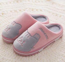 $enCountryForm.capitalKeyWord Australia - Women cotton Slippers Winter Flat Sweet Home Slippers Woman Indoor Shoes Warm Soft Slip On Black Pink Grey Female Slipper