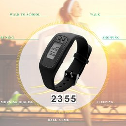 $enCountryForm.capitalKeyWord NZ - LCD Smart Wrist Watch Bracelet Pedometer Sports Monitor Running Exercising Step Counter Fitness Silicone Wristband