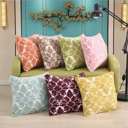 seat throws NZ - hap-deer chenille double side Cushion for Sofa Car Seat National floral geometry housewarming gift Throw Pillow HomeDecorative