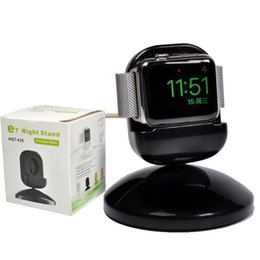 Iwatch charger stand online shopping - Charging Pad Charger mm mm dock Charger stand fit Iwatch Night Bedside clock unique design White Black