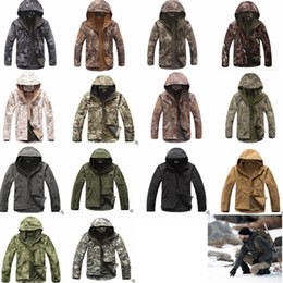 Hunting camouflage jacket online shopping - TAD Stealth Sharkskin Softshell Jackets Military Waterproof wrap Camouflage Coat Men Hike Hunting Tactical outdoor Hoodie jackets GGA1030